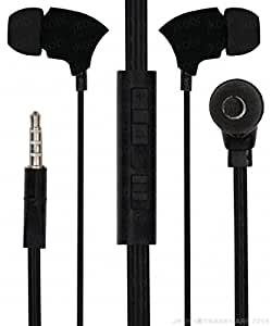 With Volume Control In Ear Bud Headset Earphones With Mic Compatible For Samsung Galaxy Core Max -Black