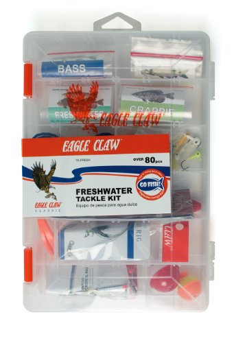 Eagle Claw E.C. Fresh Water Tackle Kit, 80 Piece