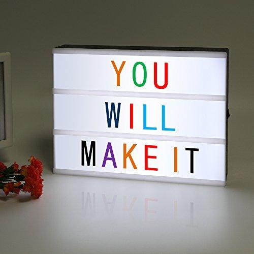 LitEnergy LED Cinematico Luce Scatola Luminosa Lightbox Con 90 Colore Lettere E Simboli Inclusi Per Comporre Le Tue Frasi Preferite