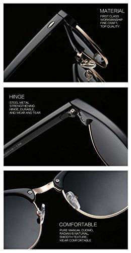 eb4c17f00e Joopin Semi Rimless Polarized Sunglasses Women Men Brand Vintage Glasses  Plaroid Lens Sun Glasses (Matte Black ...