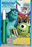 Monsters Universtiy Monsters on Campus 3 in 1 invisible ink magic pen painting sticker puzzles