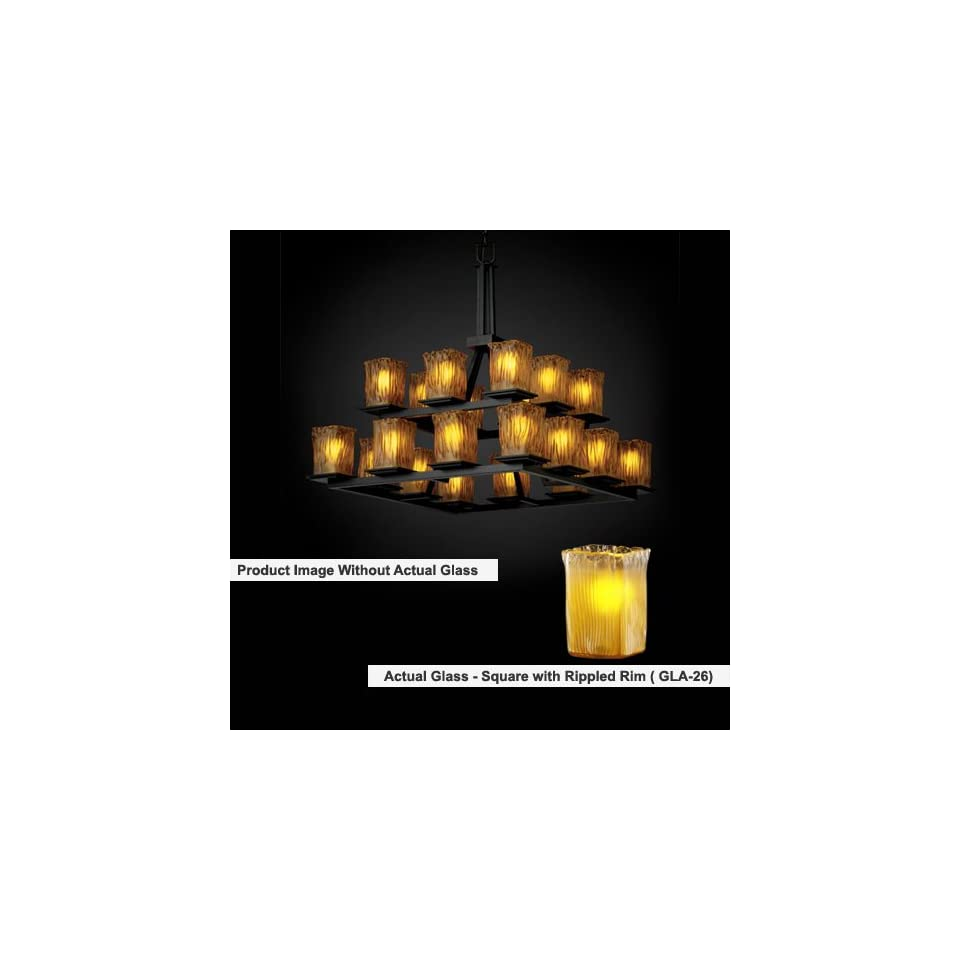 Justice Design Group FAL 8667 Montana 20 Light 2 Tier Ring Chandelier
