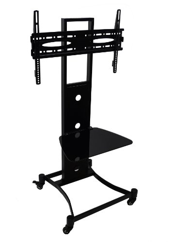 Mountright Trolley Tv Display Stand With Bracket - Includes Castors (Wheels) For 32