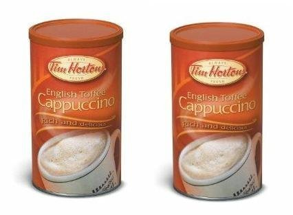 tim-hortons-english-toffee-cappuccino-beverage-mix-two-16oz-cans-imported-from-canada-by-tim-hortons