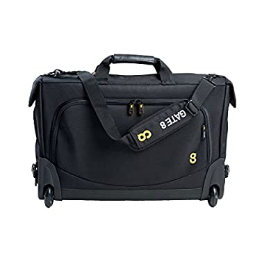 "GATE8 2-in-1 Tri Fold Mate Carry on Luggage for Easyjet, Ryanair, Air Lingus - Lightweight Garment & Laptop Trolley Cabin Bag Laptop Roller Bag on wheels to protect 13"", 15.6"" & 17.3"" inch laptops. from GATE8"