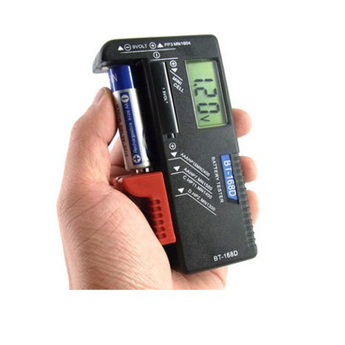 SUNOAD UniversalScales Handheld Battery Volt Tester for 1.5V AA AAA CD Cell 9V Batteries