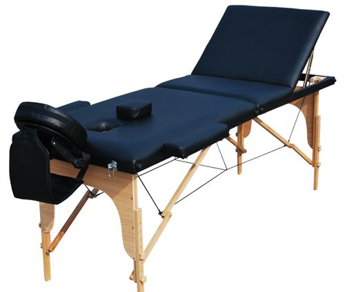 NEW PRO BLACK PORTABLE MASSAGE TABLE BEAUTY COUCH  &  BAG