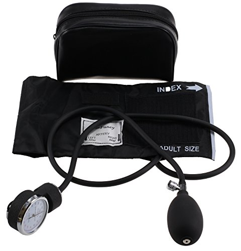 LotFancy Manual Blood Pressure Cuff (Aneroid Sphygmomanometer) with Zipper Case, FDA Approved (Adult Cuff M 10-15.9 inch) (Manual Blood Pressure Cuffs compare prices)