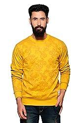 Nucode Men's Solid Cotton Round Neck Sweatshirt