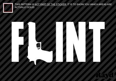 Flint - Michigan - MI - Sticker - Decal - Die Cut