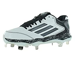 adidas Performance Women\'s PowerAlley 2 W Softball Cleat, White/Carbon/Black, 9 M US