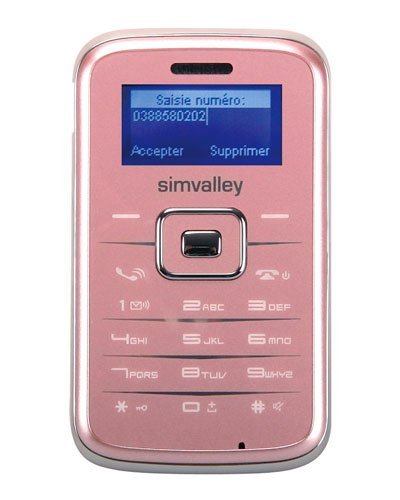 T�l�phone GSM SIMVALLEY RX180 ROSE IMPORT DE