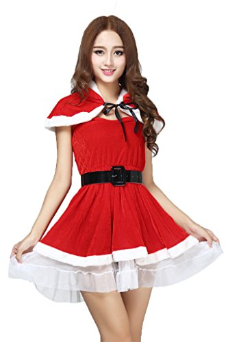 BADI NA Women's Girls Santa Cosplay Costume Sweetie Christmas Skirt Dress Suits