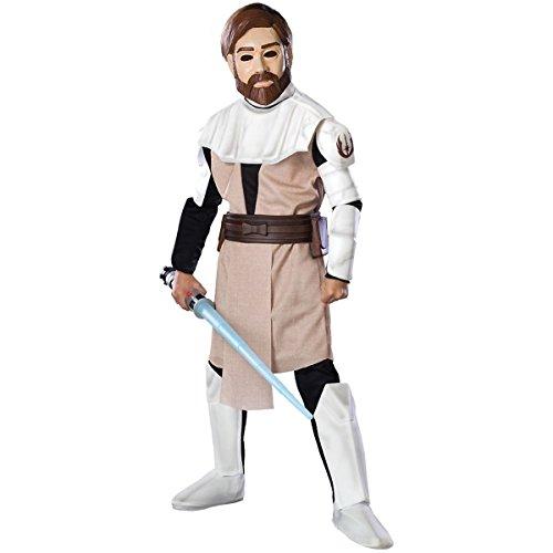 [GSG Star Wars The Clone War Costume Kids Obi-Wan Kenobi Halloween Fancy Dress] (Obi Wan Kenobi Baby Costumes)
