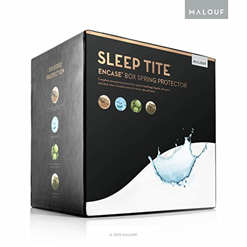 SLEEP TITE ENCASE Bed Bug Proof, Waterproof Zippered Box Spring Encasement - Split Queen (Split Box Spring For Queen Bed compare prices)