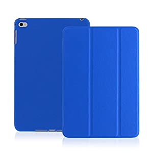 iPad Air Case - KHOMO DUAL Super Slim Twill Dark Blue Cover with Rubberized back and Smart Feature (Built-in magnet for sleep / wake feature) For Apple iPad Air 1 Tablet from KHOMO