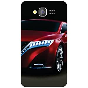 Printland Red Car Back Cover For Samsung Galaxy Grand 2