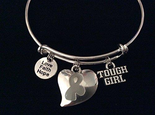 tough-girl-gray-awareness-ribbon-expandable-silver-charm-bracelet-adjustable-bangle-love-faith-hope-