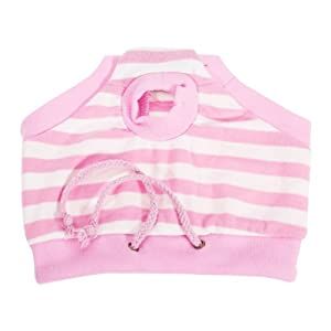 Female Pet Dog Sanitary Pant Panty Striped Diaper Brief 17 inch