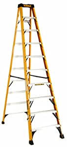 DeWalt DXL3010-10 10-Feet Fiberglass Stepladder Type IA with 300-Pound Duty Rating, 10-Feet