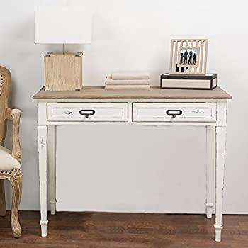 Baxton Studio Dauphine Traditional French Accent Writing Desk, White