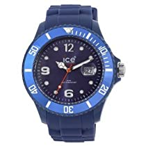 Slim Winter 11 Midnight Big Blue Dial and Silicone Strap Calander WR 5 ATM