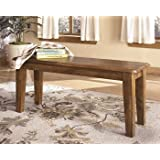 Ashley Furniture D199-00 Dining Chair/Bench, Rustic Finish