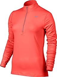 Nike Men\'s Dri-Fit Element Half Zip - X-Large - Hyper Orange