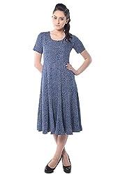iamme Ovate Pattern Printed Crepe Circle Dress