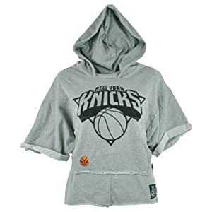 NBA Unk New York Knicks Women Ladies Rhinestone Hoodie Bat Wing Crop Top Shirt by UNK