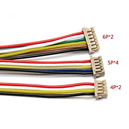 Gikfun Assorted APM 2.6 2.52 Flight Control Cable (DF13 4/5/6 Position Connector) Pack of 8pcs AE1032