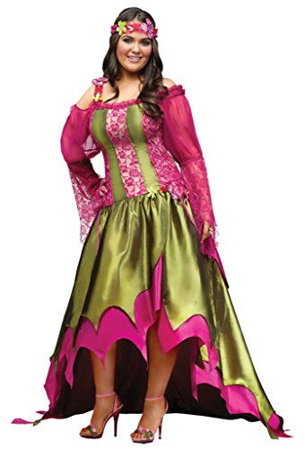 Funworld Womens Fancy Fairy Queen Renaissance Gown Corset Halloween Costume