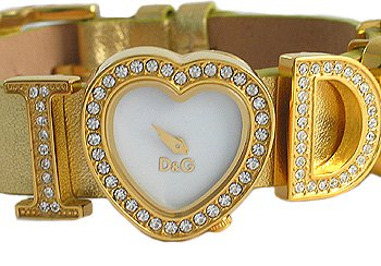 Dolce And Gabbana Gold Tone Leather Ladies Watch - DW0004 from Dolce And Gabbana