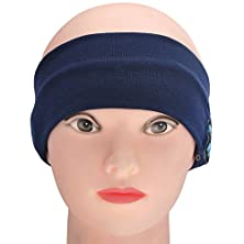 buy Fulllight Tech Bluetooth Sports Headband Wireless Handsfree Headphones With Built Stereo Speaker Microphone Nylon/Cotton Head Wear For Running Sleep (Navy Blue)