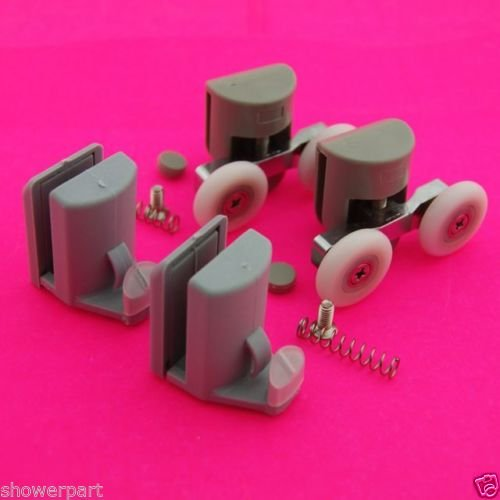 Read About Set of 4 Shower Door Rollers/Runners/Hooks/Guides 23mm Wheels Diameter L003-082