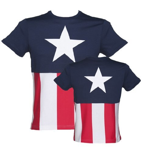 Mens Captain America Marvel Costume T Shirt