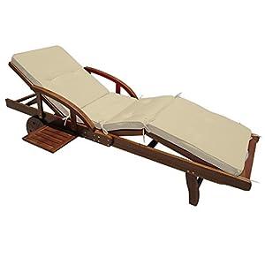 Coussin pour transat chaise longue de jardin Crme segments 195