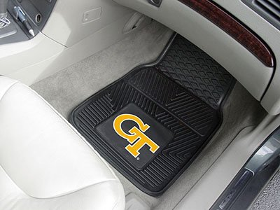 Fanmats Georgia Tech Heavy Duty 2-Piece Vinyl Car Mats 17