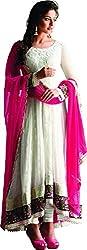 Jinaam Dress Women Georgette Dress Material (Jd-7294 _Cream)