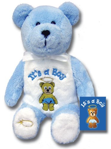 "Holy Bears, Teddy Bear, 8"" Approx Stuffed Animal, It's a Boy! Blue Bear. A Great Gift to Celebrate the Birth of a Newborn! Inside Hangtag: He Chose to Give Us Birth Through the Word of Truth, That We Might Be a Kind of Firstfruits of All He Created. James 1:18. Baby Gift, Baby Shower, New Baby Boy."