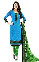 Aarvi Women's Cotton Unstiched Dress Material Multicolor -CV00155