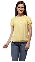 Peptrends Women's Top (TO15105YL_L, Yellow, L)