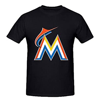 Miami Marlins Crew Neck MLB Team Cool T Shirts For Men