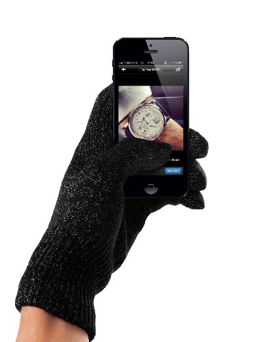 Touchscreen Handschuhe für iPhone, Smartphones - dunkelgrau (Small/Medium)