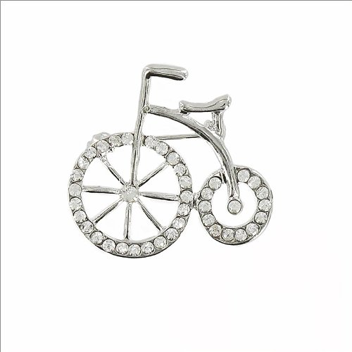Fashion Antique Bicycle with Crystal Pin #034595