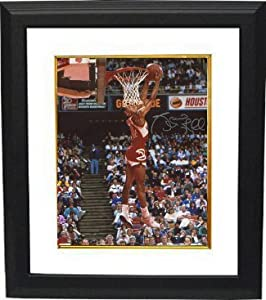 Spud Webb signed Atlanta Hawks 16x20 Photo Custom Framed (1986 Slam Dunk Champ... by Athlon Sports Collectibles