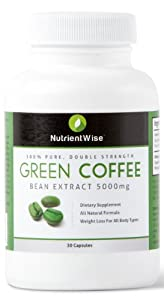 100% Pure Green Coffee Bean Extract - Highest Premium Strength 5000mg -UK Made - Premium GMP - Diet Slimming Pills