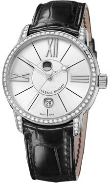 Ulysse Nardin Classico Luna Stainless Steel Diamonds Watch