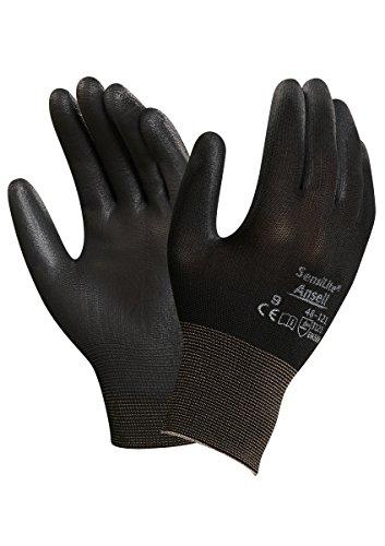 Ansell SensiLite 48-121 Guanti per usi multipli, protezione meccanico, colore: nero (Confezione da 12 paia), 11, nero, 12