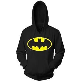 Classic Black Batman Logo Hoodie